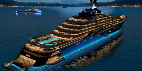 Designers show off plans for a $600 million superyacht, set to be the world's biggest. Its 39 luxury apartments will start at $11.2 million — and you can only buy one if you're invited.