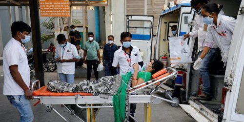 Relatives of COVID-19 patients in India stole oxygen cylinders from a hospital twice in 2 days in a desperate bid to save family members as the country's catastrophic second wave worsens