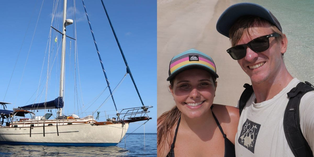 After crossing the Atlantic Ocean, a couple who lives on a sailboat full time is now dealing with the pandemic and hurricane season — here's what their life is like