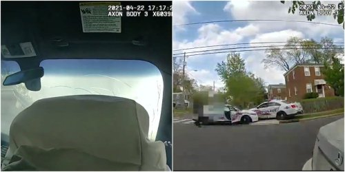 Police bodycam footage shows the moment DC officers drag raced each other, crashed, and totaled 2 cruisers