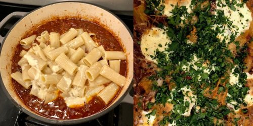 I made Ina Garten's cheesy baked pasta with ragu sauce, and she's right — it's the perfect comfort food