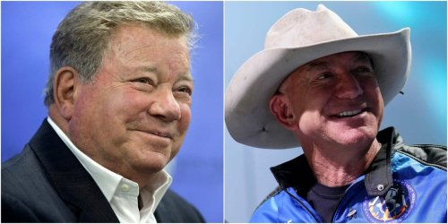 William Shatner made a light dig at Jeff Bezos' playfulness on the Blue Origin flight in July: 'I don't want to throw Skittles — I want to look out the window'