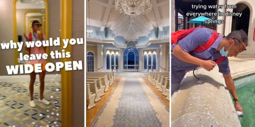 Universal Orlando seemingly called out a TikToker who posted a video of himself drinking from the theme park's decorative fountains