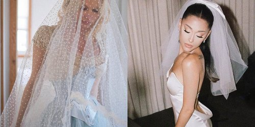 9 stunning wedding dresses celebrities wore for their big days in 2021