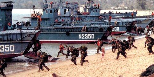 Chinese state media touts amphibious landing drill days after US senators visit Taiwan