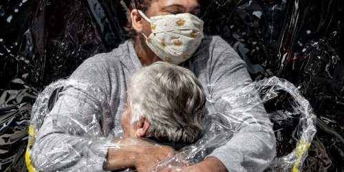 A photo of an 85-year-old Brazilian woman getting her first hug in the COVID-19 pandemic has won World Press Photo of the Year