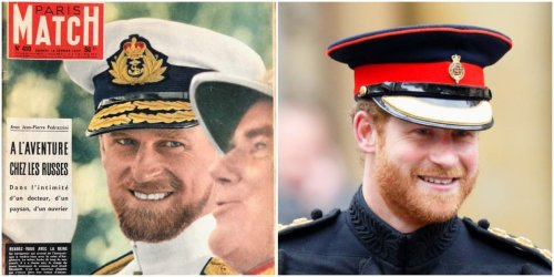 Prince Philip looked exactly like Prince Harry on a vintage magazine cover from the 1950s