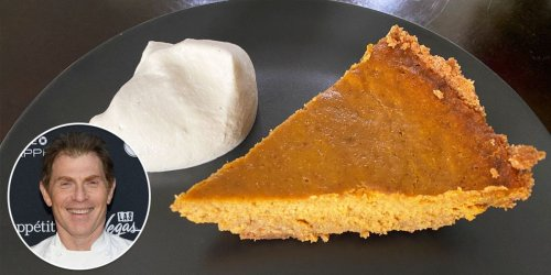 The best pumpkin pie I ever made is a surprisingly easy recipe from Bobby Flay