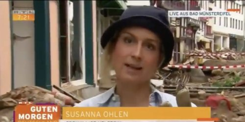 Reporter suspended for smearing herself with mud and pretending to have helped with flood clean-up efforts