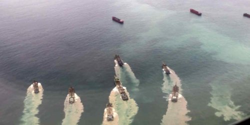 China's latest tactic to exert control over Taiwan? Using hundreds of dredgers to carve sand from its coast.