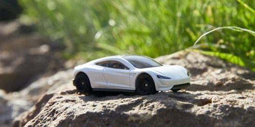Matchbox will sell an eco-friendly Tesla Roadster toy, and you'll probably be able to buy one before the real thing