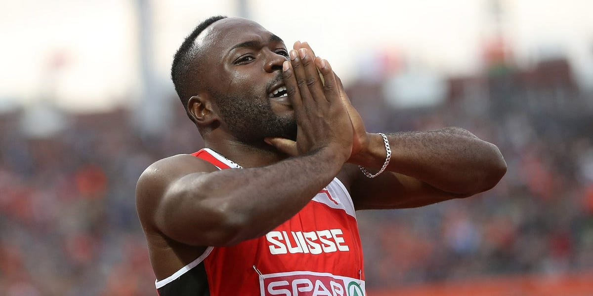 A sprinter banned from the Olympics for doping blamed his positive drug test on eating contaminated meat