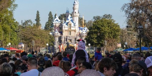 Videos show hordes of people lined up for blocks to get into Disneyland after it dropped its mask mandate