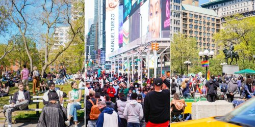 Photos show how crowded New York City is becoming as vaccinations ramp up — and locals say the energy of the city is coming back