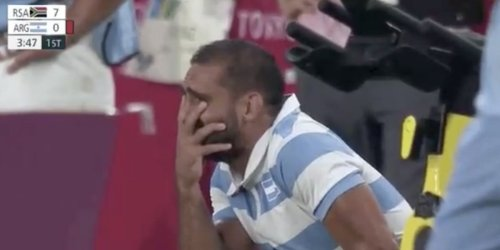 An Olympic rugby star cried 2 times in an emotional whirlwind of a game, getting kicked out for a horror tackle before his teammates saved his bacon with a heroic win