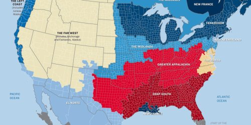 This map shows how the US really has 11 separate 'nations' with entirely different cultures