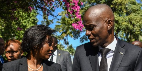 The wife of Haiti's assassinated president said she used her dead husband's tie as a tourniquet after the attack