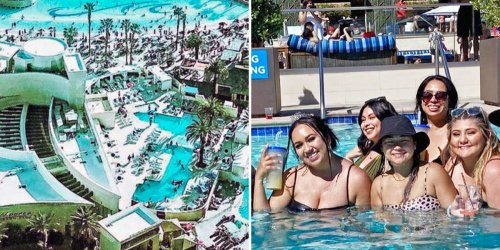 Pictures show Las Vegas pool parties are back as the city reopens, and some tourists say now they're better than ever