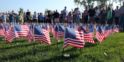 A student who removed thousands of 9/11 flags from a college memorial said it was a protest against Islamophobia and US military interventions