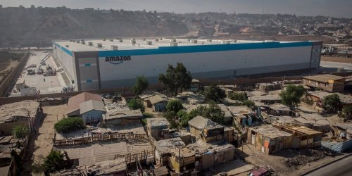 Photos of a new, sprawling Amazon warehouse in Mexico surrounded by deteriorating shacks have gone viral as the tech giant continues to expand its footprint internationally