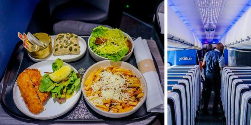 I flew JetBlue between New York and London and found the food in economy class to be surprisingly tastier than in business class