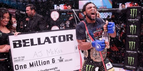 A.J. McKee spectacularly finished Pitbull, backflipped off the cage, and declared his stardom had only just begun