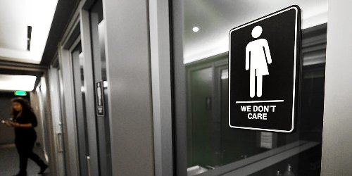 A new Tennessee law forces businesses to post a 'policy' sign if they allow transgender people to use bathrooms matching their gender identity