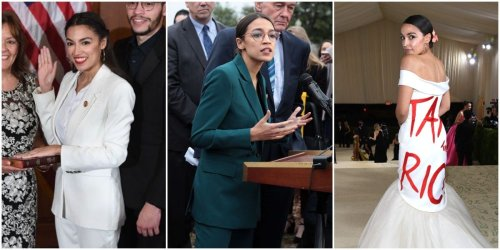 9 times Alexandria Ocasio-Cortez made statements with her outfits -  Flipboard