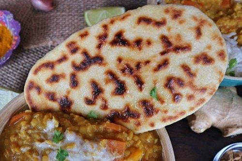 Naan Brot vegan selber machen: Rezept für indisches Fladenbrot