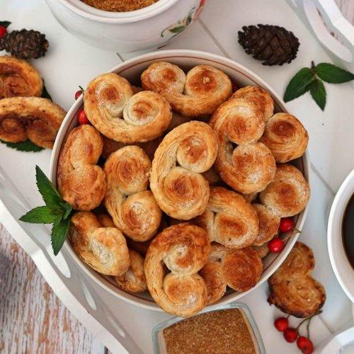 Schweineöhrchen backen – Rezept für französische Palmier Kekse