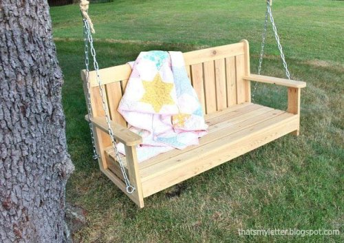 20 Free Porch Swing Plans for Warmer Days