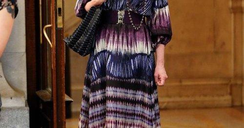 "So elegant stylt ""Sex and the City""-Star Cynthia Nixon den Batik-Modetrend"