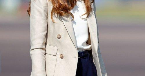 Herzogin Kate macht vor: So wird ein heller Blazer 2021 zum angesagten Herbst-Trend