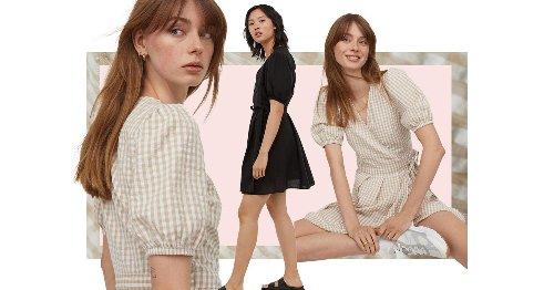 Kleider-Trend im Sommer: Dieses Wickelkleid aus Leinen von H&M macht schlank