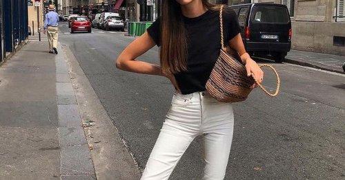 Modetrend White Denim: so tragen die Französinnen weiße Skinny Jeans im Sommer