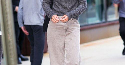 Jeans-Trend: Dank Gigi Hadid wollen wir jetzt sofot eine Wide Leg Pants in Grau