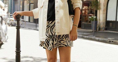 Modetrend Zebra-Print: Dieser angesagte Wickelrock von Mango macht schlank