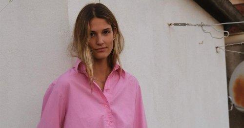 Esta camisa de mujer rosa no es como las demás, ¡es mucho más bonita y tendencia!