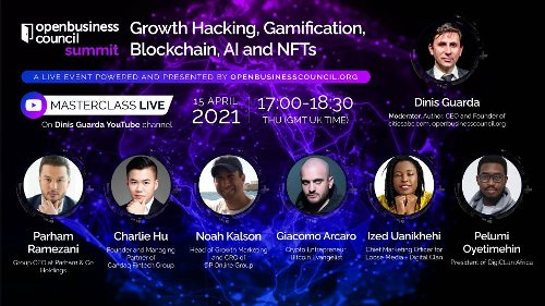 Blockchain, NFTs And Growth Hack Highlighted In the Upcoming Live Masterclass On Dinis Guarda YouTube Channel