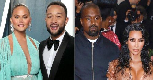 Chrissy Teigen Gives Update on John Legend, Kanye's Friendship After Kim Split