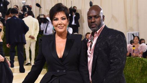 Kris Jenner and Corey Gamble Coordinate in Black at the 2021 Met Gala Red Carpet: Photos