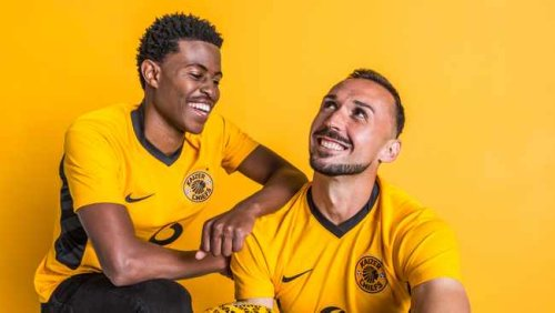 Kaizer Chiefs unveil their new jerseys ahead of the Carling Cup this afternoon