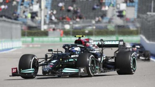 Valtteri Bottas leads Lewis Hamilton in Russian GP opening practice