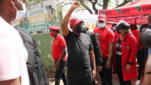 WATCH: Ugly scenes, blows, manhandling as ANC supporters block Malema in Pietermaritzburg