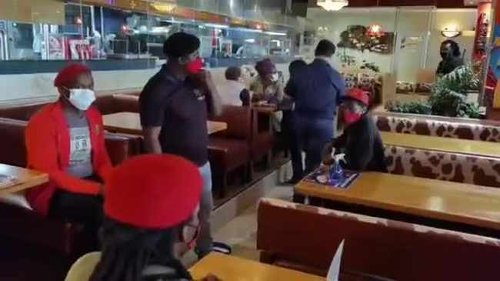 WATCH: EFF storms East London Spur, after an employee allegedly died after being forced to work, despite calling in sick