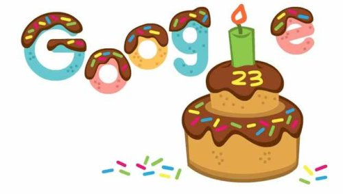Google celebrates 23rd birthday with a special doodle