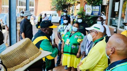 PICS: Cyril Ramaphosa arrives in Limpopo to drum up ANC support
