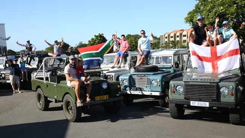 Land Rover procession in Durban for Prince Philip