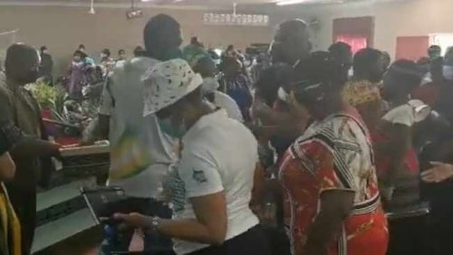 Video showing Mashatile handing out money during campaign