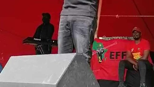 WATCH: EFF's Julius Malema takes swipe at Cyril Ramaphosa and DA while on election campaign trail